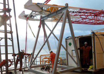 Offshore crane repair for Engie